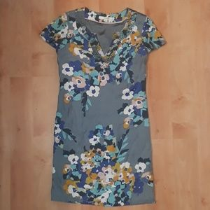 Boden Gray Floral Tunic Dress